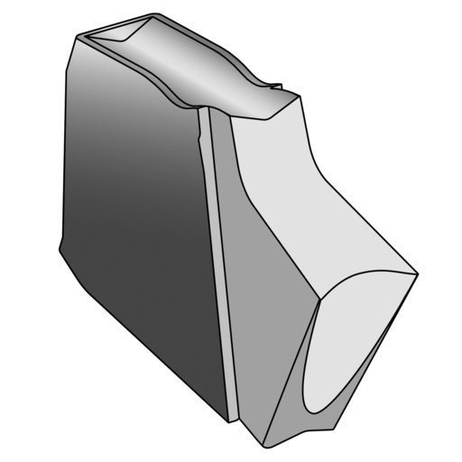 View a Larger Image of Ultra-Shear Fluted Insert for Parting Tool