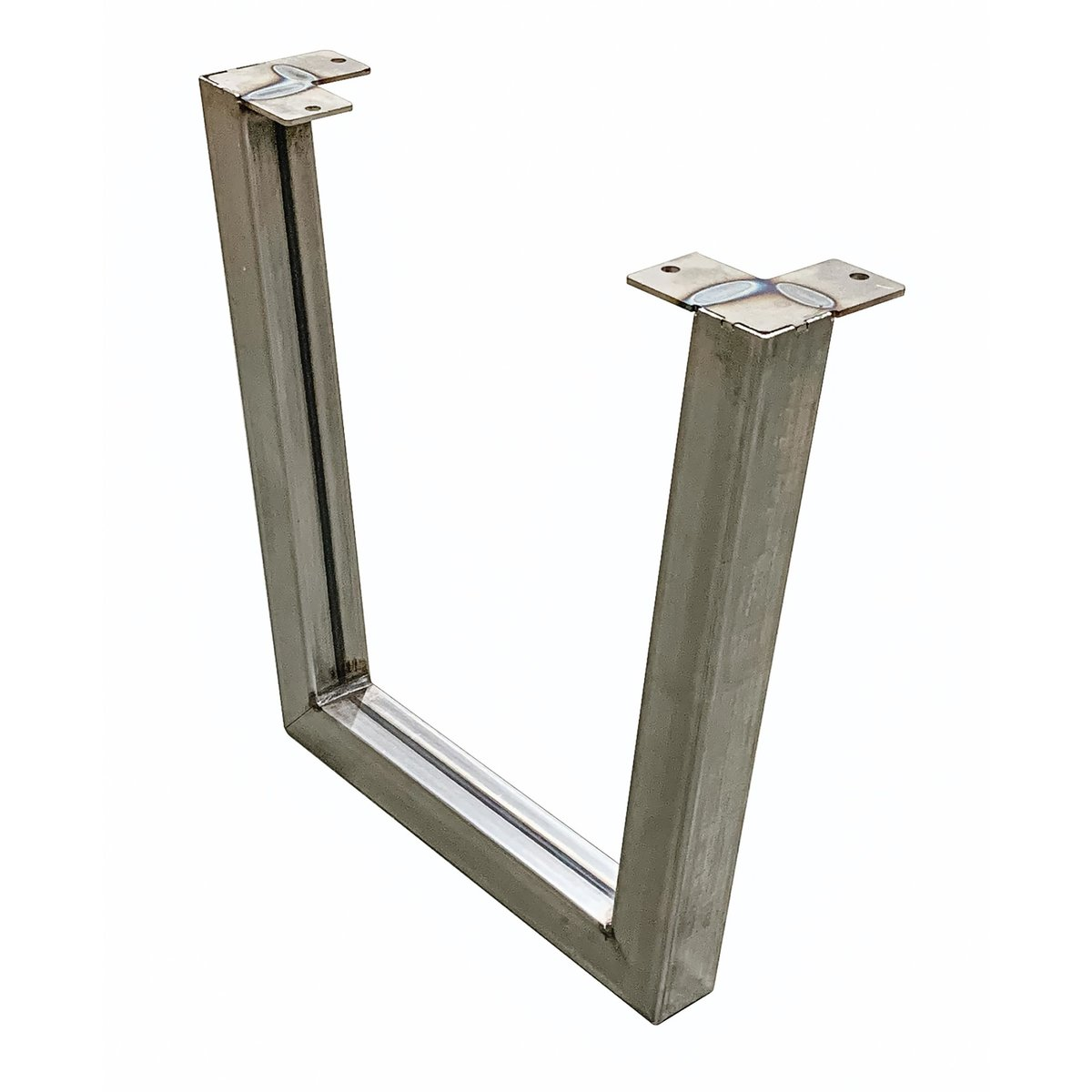 """View a Larger Image of """"V"""" Slab Legs 15"""" High Raw Steel Pair"""