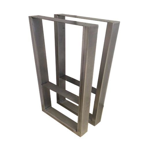 """View a Larger Image of """"V"""" Slab Legs 38"""" High Raw Steel Pair"""