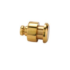 """Jewelry Box Feet/Knob - 1/2"""" Diameter - Polished Brass"""
