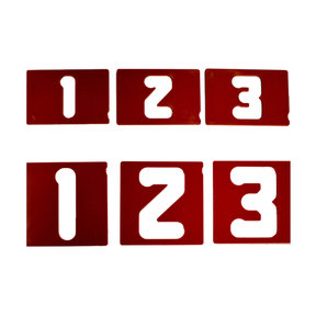 """1-1/2"""" and 2-1/2"""" Vertical Number Set for Sign Making Jigs"""