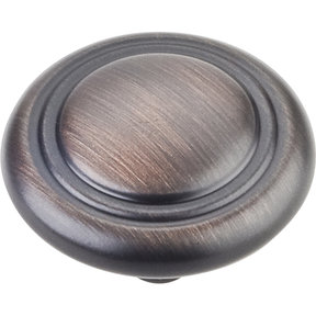 """Vienna Knob, 1-1/4"""" Dia.,  Brushed Oil Rubbed Bronze"""