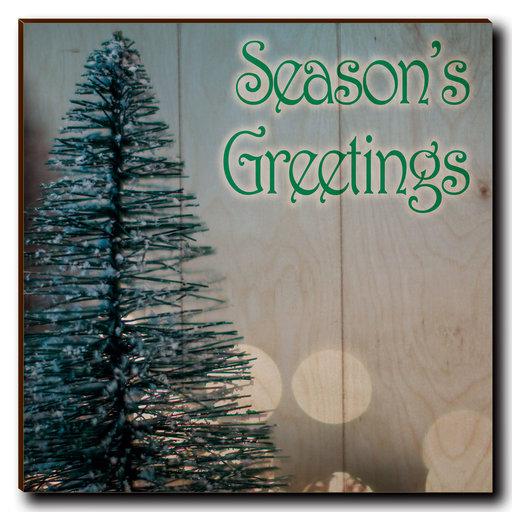 "View a Larger Image of Wall Art Season's Greetings Tree 12"" x 12"" Print"