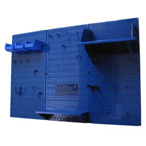 4' Metal Pegboard Standard Tool Storage Kit - Blue Toolboard & Blue Accessories