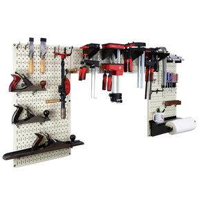 Lazy Guy DIY Maker Woodworking Tool Storage Organizer Set, Beige