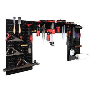 Lazy Guy DIY Maker Woodworking Tool Storage Organizer Set, Black