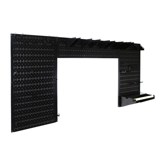 View a Larger Image of Lazy Guy DIY Maker Woodworking Tool Storage Organizer Set, Black