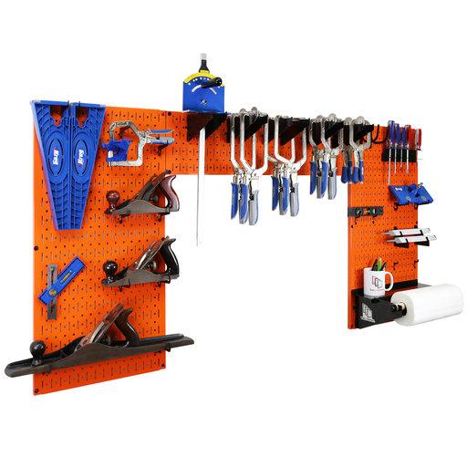 View a Larger Image of Lazy Guy DIY Maker Woodworking Tool Storage Organizer Set, Orange