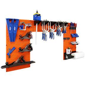 Lazy Guy DIY Maker Woodworking Tool Storage Organizer Set, Orange