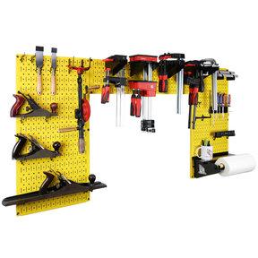 Lazy Guy DIY Maker Woodworking Tool Storage Organizer Set, Yellow