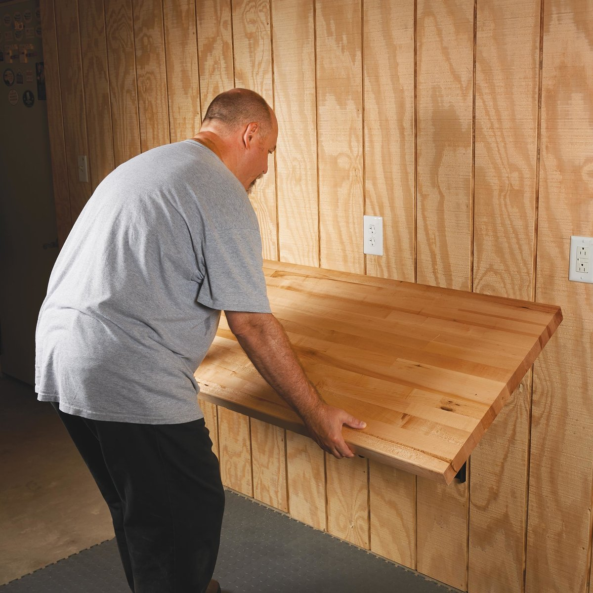 View a Larger Image of Wall Mounted Folding Workbench Brackets