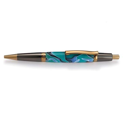 View a Larger Image of Wall Street II Elegant Click Ballpoint Pen Kit - Gunmetal & Hardite