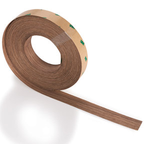 "Walnut 13/16"" x 50' 3M® PSA Wood Edge Banding"