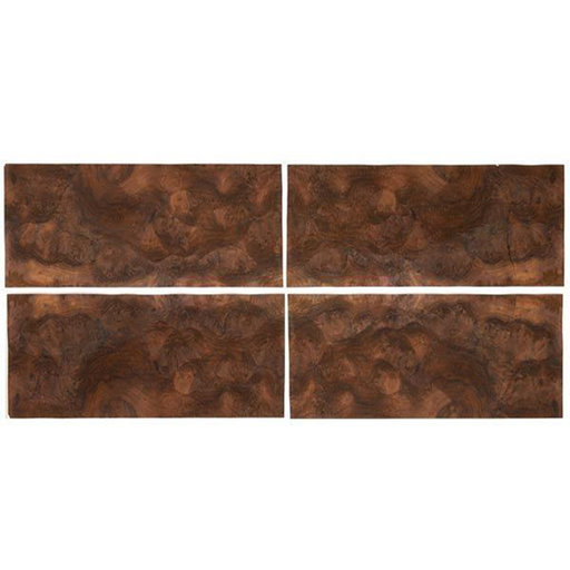 """View a Larger Image of Walnut Burl Sequence Matched Wood Veneer - 8"""" x 18"""" - 4 Pack"""