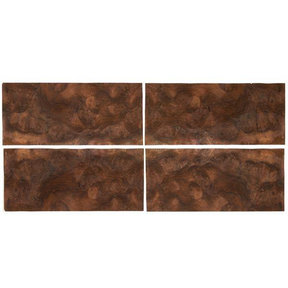 """Walnut Burl Sequence Matched Wood Veneer - 8"""" x 18"""" - 4 Pack"""