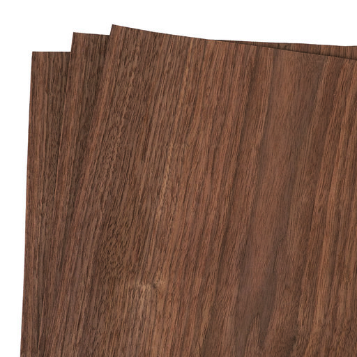 """View a Larger Image of Walnut Wood Veneer Pack - 12"""" x 12"""" - 3 Piece"""