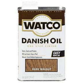 Dark Walnut Danish Oil Solvent Based Quart