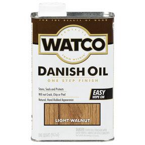 Light Walnut Danish Oil Solvent Based Quart