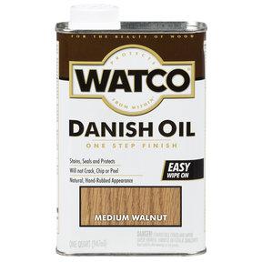 Medium Walnut Danish Oil Solvent Based Quart