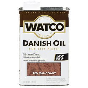 Red Mahogany Danish Oil Solvent Based Quart