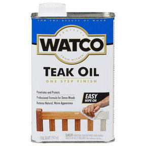 Natural Oil Teak Oil Solvent Based Quart