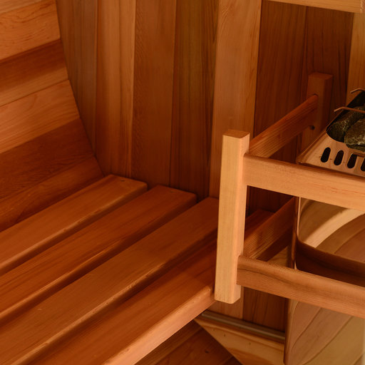 View a Larger Image of Watoga Electric Barrel Sauna in Clear Cedar