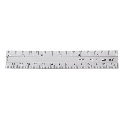 View a Larger Image of 6-inch C-thru Acrylic Ruler