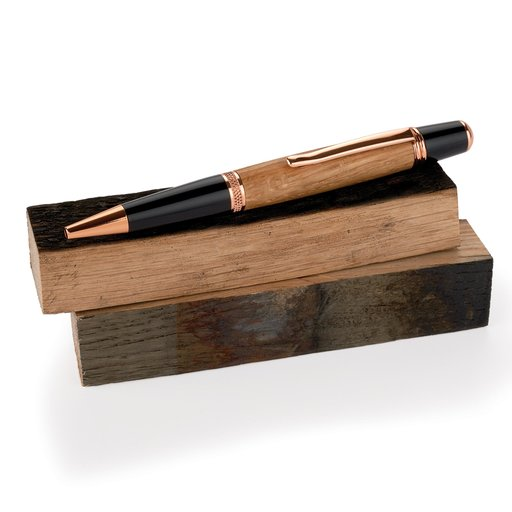 """View a Larger Image of Whiskey Wood 3/4"""" x 3/4"""" x 5"""" Bourbon Whiskey Barrel Staves Pen Blanks 2-piece"""