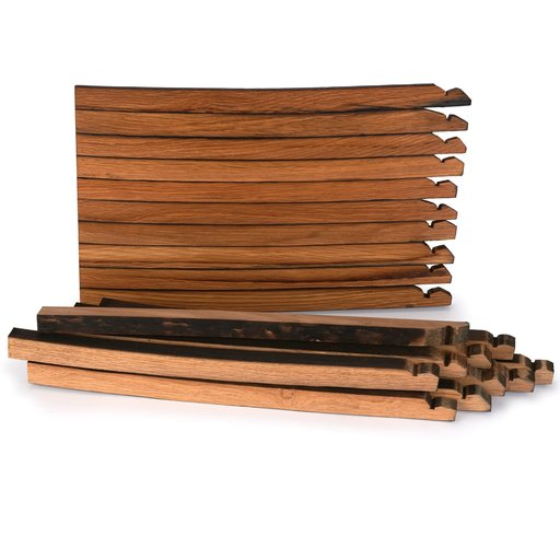 View a Larger Image of Whiskey Wood Bourbon Whiskey Barrel Staves Cutting Board Kit, Large