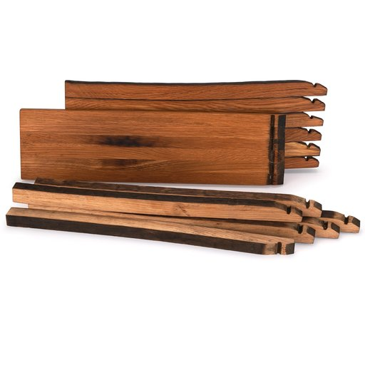 View a Larger Image of Whiskey Wood Bourbon Whiskey Barrel Staves Cutting Board Kit, Small