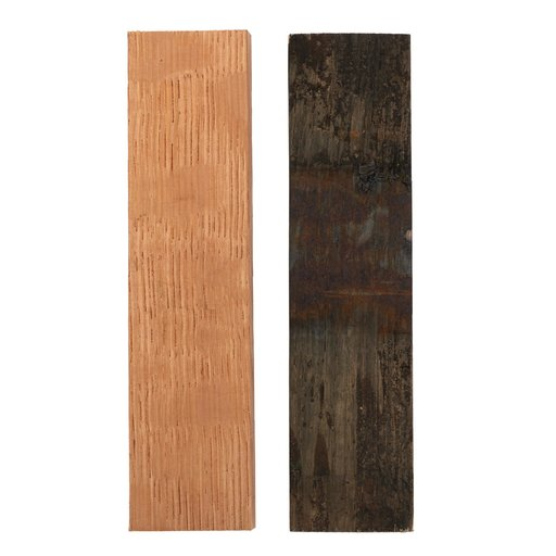 """View a Larger Image of Whiskey Wood Cooperage Select 3/8"""" x 1-1/2"""" x 5"""" Bourbon Whiskey Barrel Staves Knife Scale 2-piece"""