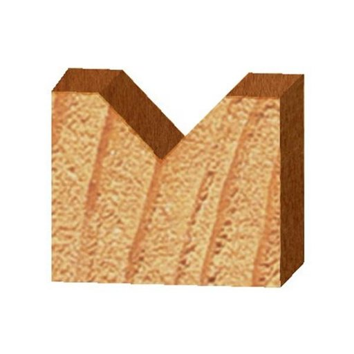 """View a Larger Image of 1502 90-Degree V Groove Router Bit 1/4"""" SH 1/2"""" D X 1/4"""" P X 1-7/8"""" OL"""