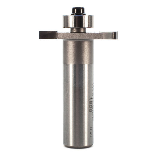 """View a Larger Image of 1906 Slotting And Rabbeting Router Bit 1/2"""" SH 1-1/4"""" D X 1/8"""" CL X 3/8"""" CD 2"""" OL"""