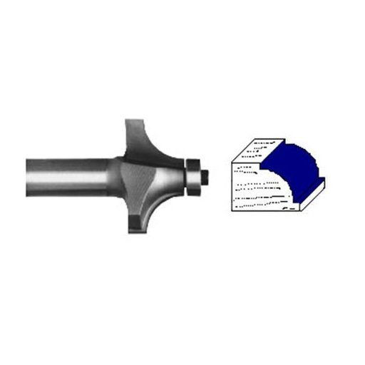 """View a Larger Image of 2104 Beading Router Bit 1/4"""" SH 1/2"""" R X 1-1/2"""" D X 3/4"""" CL"""