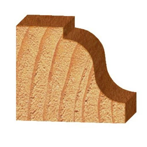 """View a Larger Image of 2203 Roman Ogee Router Bit 1/4"""" Radius 11/16"""" Cutting Length 1/2"""" Shank"""