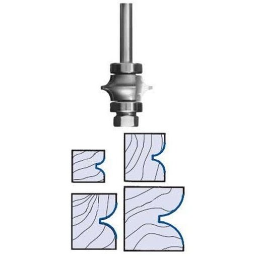 """View a Larger Image of 3196 Full Bead Router Bit 1/4"""" SH 3/8"""" R 1-3/8"""" D X 7/8"""" CL X 2-3/4"""" OL"""