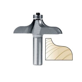 """3296 Traditional Table Edge Router Bit 1"""" PW 2-1/2"""" D X 3/4"""" CL X 2-1/2"""" OL"""