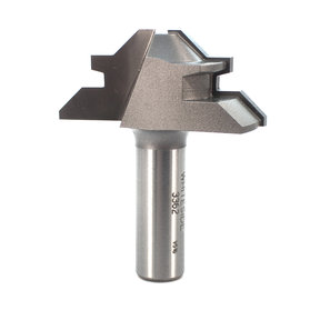 """3362 Lock Miter Router Bit 2"""" D for 1/2"""" to 3/4"""" Stock Thickness"""