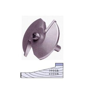 """5900B 2-Wing Large Raised Panel Router Bit 3-1/4"""" D, Straight"""