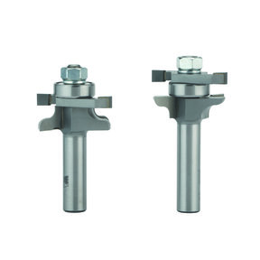 """Traditional Stile and Rail Door Router Bit Set - 1/2"""" SH - 1-5/8"""" OD x 7/8"""" CL  - 2 Piece"""