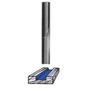 """SC02 Straight Router Bit Single Flute 1/8"""" D X 3/8"""" CL 1/4"""" SH 1-1/2"""" OL"""