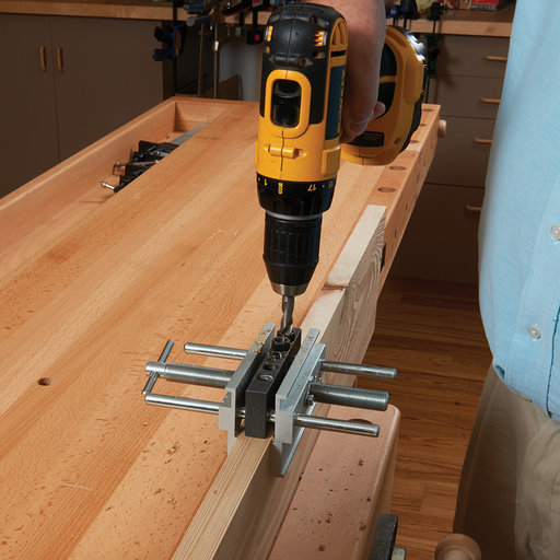 View a Larger Image of Wide Capacity Deluxe Doweling Jig