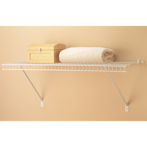 """View a Larger Image of Wire Shelf Kit 24"""" W x 12"""" D, White"""