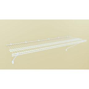 """Wire Shelf Kit 48"""" W x 16"""" D, White"""
