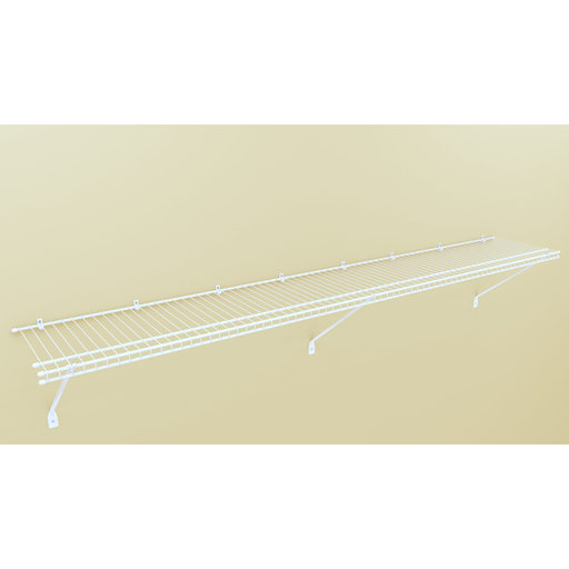 """View a Larger Image of Wire Shelf Kit 72"""" W x 12"""" D, White"""