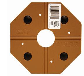 WiseTile Deck Tile Connector, Hardwood Brown, 1 Connector