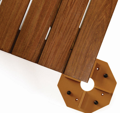 View a Larger Image of WiseTile Deck Tile Connector, Hardwood Brown, 1 Connector