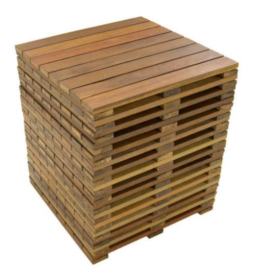 View a Larger Image of WiseTile Hardwood Deck Tile Starter Kit, Exotic Ipe Hardwood, 8 ft. x 8 ft. x 64 Sq. ft., 16 Count