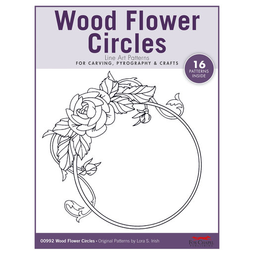 View a Larger Image of Wood Flower Circles Pattern Pack By Lora S. Irish