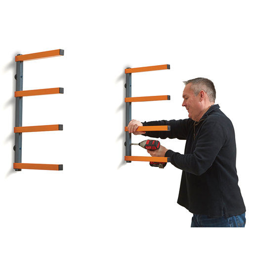 View a Larger Image of Wood Rack 4 Tier